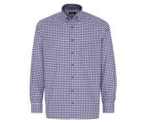Langarm Hemd Comfort FIT Twill Blau/weiss/rot Kariert