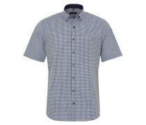 Kurzarm Hemd Modern FIT Chambray Grün/blau/weiss Kariert