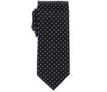 Krawatte Anthrazit Getupft
