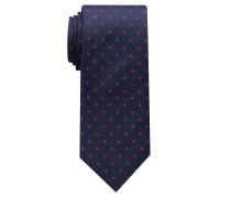 Krawatte Marineblau/rot Gemustert