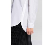 Langarm Bluse 1863 BY - Premium Popeline Weiss Unifarben