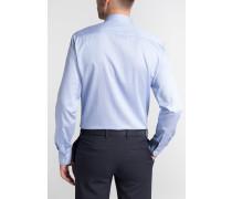 Langarm Hemd Slim FIT Twill Blau/weiss Strukturiert