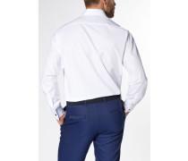 Langarm Hemd Comfort FIT Chambray Weiss Unifarben