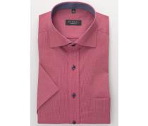 Kurzarm Hemd Comfort FIT Panamabindung ROT Strukturiert