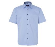 Kurzarm Hemd Modern FIT Panamabindung Hellblau Strukturiert