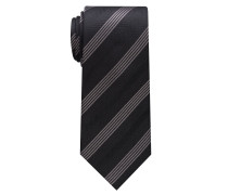 Krawatte Schwarz/silbergrau Gestreift