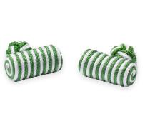 Manschettenknöpfe Grün Gemustert