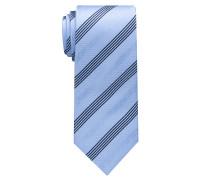 Krawatte Hellblau/marine Gestreift