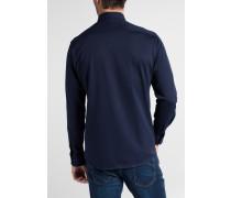 Langarm Hemd Modern FIT Jersey Marineblau Gemustert