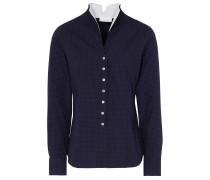 Langarm Bluse Modern Classic Marineblau/weiss Bedruckt