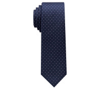 Krawatte Marineblau/flieder Getupft
