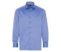 Langarm Hemd Comfort FIT Natté Hellblau Strukturiert
