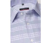 Langarm Hemd Modern FIT Oxford Flieder/weiss Kariert