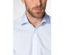 Langarm Hemd Modern FIT Popeline Hellblau Unifarben