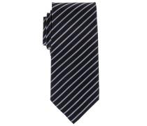 Krawatte Anthrazit Gestreift