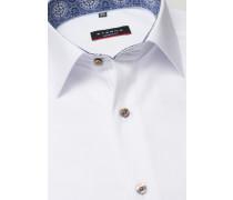 Kurzarm Hemd Modern FIT Pinpoint Weiss Unifarben