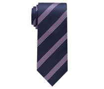Krawatte Rosa/marineblau Gestreift