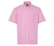 Kurzarm Hemd Modern FIT Oxford Pink/weiss Gestreift