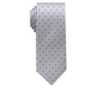 Krawatte Lila/silbergrau Gemustert