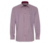 Langarm Hemd Modern FIT Twill Rot/schwarz/weiss Kariert