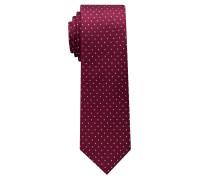 Krawatte Weinrot/silbergrau Getupft