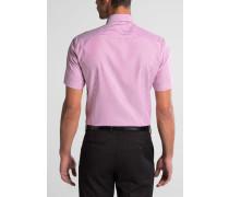 Kurzarm Hemd Slim FIT Oxford Pink/weiss Gestreift