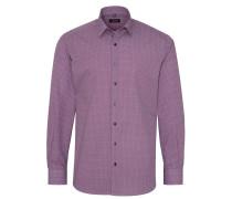 Langarm Hemd Modern FIT Popeline Rot/weiss Bedruckt
