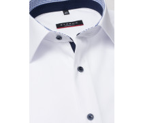 Langarm Hemd Modern FIT Popeline Weiss Unifarben