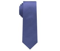 Krawatte Jeansblau Gestreift