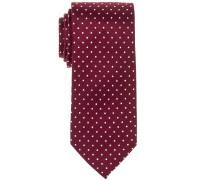 Krawatte ROT Getupft