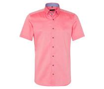 Kurzarm Hemd Slim FIT Oxford Rotorange Unifarben