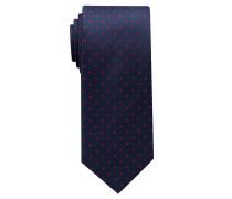 Krawatte Jeansblau/rot Getupft