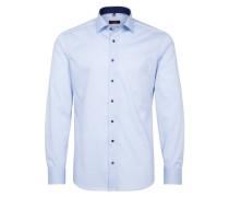 Langarm Hemd Slim FIT Stretch Hellblau Unifarben
