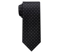 Krawatte Schwarz/grau Getupft
