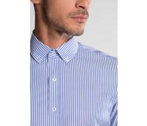 Kurzarm Hemd Slim FIT Oxford Blau/weiss Gestreift