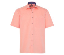 Kurzarm Hemd Comfort FIT Chambray Orange Unifarben