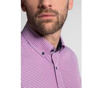 Kurzarm Hemd Modern FIT Popeline Pink/blau Kariert