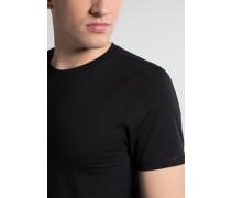 Bodyshirt MIT Rundhals Ausschnitt Schwarz Unifarben