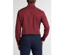 Langarm Hemd Modern FIT Chambray Ziegelrot Unifarben