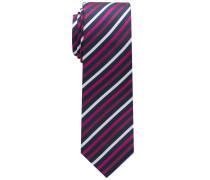 Krawatte Rot/silbergrau/schwarz Gestreift