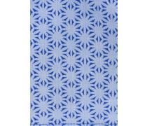 Einstecktuch Kornblumenblau Gemustert