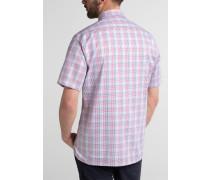 Kurzarm Hemd Modern FIT Twill Blau/rot Kariert