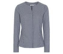 Langarm Bluse Modern Classic Twill Blau/weiss Kariert