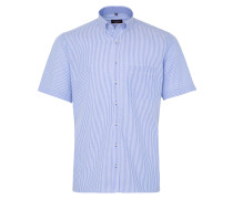 Kurzarm Hemd Modern FIT Oxford Blau Gestreift