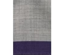 Einstecktuch Grau/lila Unifarben