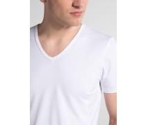 Bodyshirt MIT Verlängertem V-Ausschnitt Weiss Unifarben