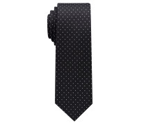 Krawatte Schwarz/silbergrau Getupft