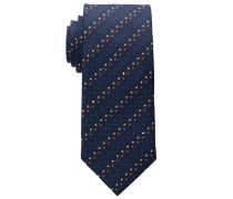 Krawatte Marineblau/rot/weiss Getupft
