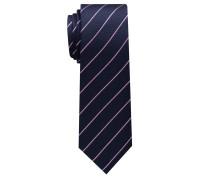 Krawatte Marineblau/rose Gestreift
