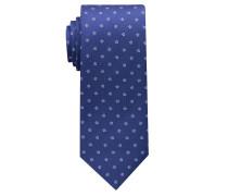 Krawatte Jeansblau/hellblau Gemustert